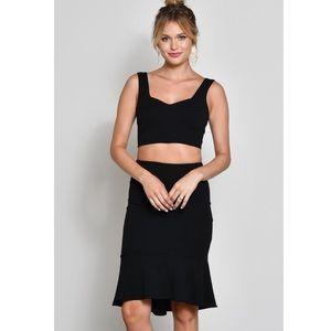🆕Margot Black 2 PC Co-Ord Crop Top & Skirt Set